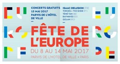 Fête de l'Europe, Paris du 8 au 14 mai 2017